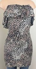 Moda International Leopard Strapless Tunic S Small Coverup Top Victorias Secret