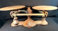 Antique Cast Iron Double Balance Scale #2 16 Oz Primitive Mercantile Old