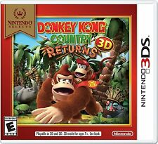 NEW Donkey Kong Country Returns 3D (Nintendo 3DS, 2013) Selects Cover