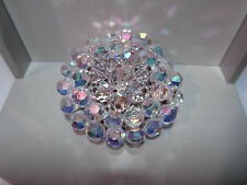 STUNNING MIRIAM HASKELL STYLE WIRED CRYSTAL AURORA BOREALIS BROOCH PIN VTG