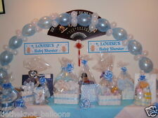 LINKING QUICK LINK BALLOON DIY PARTY CHRISTENING WEDDING ARCH BABY BLUE & WHITE