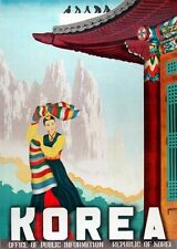 KOREA VINTAGE TRAVEL POSTER Rare Hot New