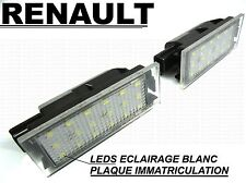 RENAULT MEGANE 2 CC  LEDS PLAQUE IMMATRICULATION BLANC LED TURBO GT RS Sport R26