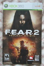 Xbox 360 - F.E.A.R. 2 Project Origin (Manual only)
