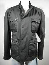 CALVIN KLEIN Jeans Military/Field Coated Cotton Twill Jacket, Black, size XL