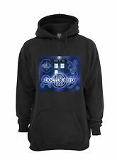 L@@K! Dr Who Tardis Sweatshirt - Black - Size XL - The Doctor Blue Box Gallifrey