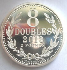 Guernsey 2013 Old Coinage 8 Doubles 2 Pounds 1oz Silver Coins,Proof