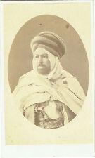 Photo cdv : Portrait d'un guerrier de la région d'alger , Algérie , vers 1868