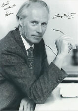 SIR GEORGE MARTIN Signed 12x8 Photo THE BEATLES Producer COA