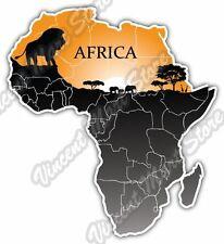 """Africa Map Desert Safari Lion Gift Idea Car Bumper Vinyl Sticker Decal 4""""X5"""""""