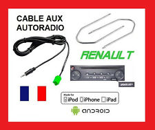 Cable jack aux mp3 autoradio RENAULT UDAPTE LIST 6pin + 2 cles kanoo clio