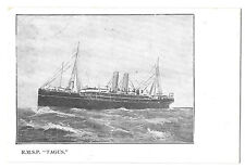 """Royal Mail Steam Packet """"Tagus"""" Official PPC Unposted"""