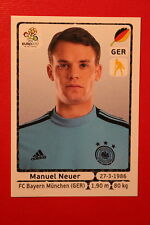 Panini EURO 2012 N. 229 DEUTSCHLAND NEUER  NEW With BLACK BACK TOPMINT!!