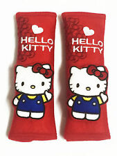 Hello Kitty Car Accessory : 2 pieces Seat Belt Covers Shoulder Pads #07