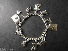 """Haunted Halloween"" 13 Charm Wiccan Bracelet - pagan jewellery silver samhain"