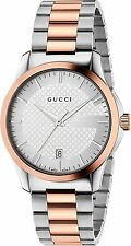 Gucci G-Timeless Two Tone S/S & Rose Gold Tone 38mm Unisex Watch YA126447