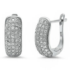 Micro Pave Set Cz .925 Sterling Silver Earring
