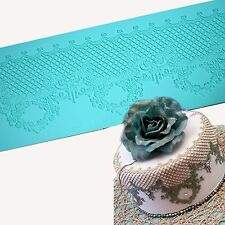 Sugarcraft Lace Mat Silicone Mold Wedding Cake Decorating Tools Cupcake Embossor