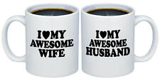 I Love my Awesome Wife - Husband Valentines Gifts for Couples Coffee Mugs MCP107