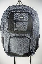 Thirty One Large Backpack Bookbag Black and White Print