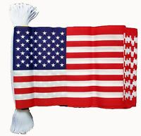 USA 3 METRE BUNTING 10 FLAGS flag 3M U.S.A. UNITED STATES OF AMERICA AMERICAN