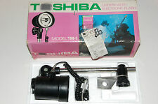 Vintage TOSHIBA underwater flash TM-1 & adapter for Nikonos III camera. Working.