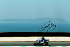 Randy De PUNIET SIGNED Autograph WSBK SUZUKI Voltcom Rider 12x8 Photo AFTAL COA
