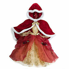 NWT DISNEY STORE BELLE DELUXE HOLIDAY DRESS WITH CAPE COSTUME SIZE 7-8 7 8
