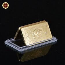 U.S Buffalo 1 Troy OZ Fine Bronze .999 24k Gold Bar Atlantis Mint Nice Gift New