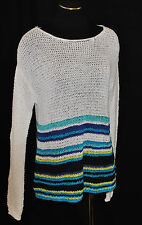 NWT BoHo CHIC Sheer Layering Crochet Knit Macrame Oversize Sweater Top M