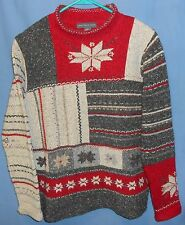 Northern Isles Red Nordic Snowflake Ugly Christmas Sweater S