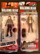 THE WALKING DEAD CARL GRIMES SERIES 4 AND 7. set (2) !!!!!!!!!