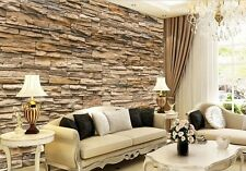 inyl Nature Emboss 3D Stone Wall Paper Roll Brick Wall Wallpaper TV Background