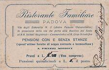 """# PADOVA:  """"RISTORANTE FAMIGLIARE"""" - via degli Zabarella - cartoncino pubblicita"""