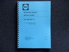 BSA A75 ROCKET 3 WORKSHOP MANUAL 1968 TO 1972 MODELS