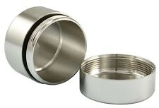 "1.25""x1"" Metal Aluminum Stash/Storage Case Snuff Box O-Ring SEAL Air/Water Tight"