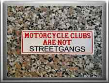 "Hells Angels support 81 Sticker Adhesivo ""motorcycleclubs are not pandillas"""