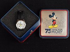 """Disney Mickey Mouse """"75 Years With Mickey"""" 75th Anniversay Watch with Tin. New."""