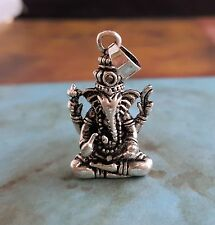 Large Antique Silver Ganesh Charm (1) - DS010 Jewelry Finding