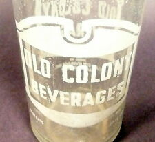 vintage ACL Soda Pop Bottle:  OLD COLONY of ZANESVILLE, OHIO - 10 oz ACL