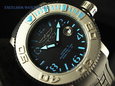 Invicta 1079 Blue Fish Titanium Mens Swiss Made Automatic Sea Hunter 300M Diver