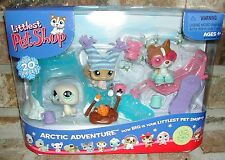 Littlest Pet Shop ARCTIC ADVENTURE 1st Edit 340, 341 342 VHTF Husky sled+