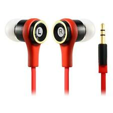 (20-pack) Red Earbuds Earphones In-Ear Sound Isolating Headphones Flat Cable