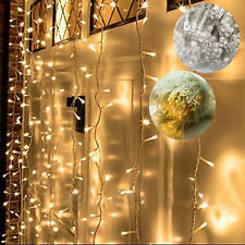 144 WARM WHITE LED CURTAINS FAIRY STRING CHRISTMAS LIGHTS  WEDDING PARTY DECORE