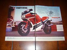 1985 HONDA VF1000R      ***ORIGINAL 2 PAGE AD*** RARE!!!!