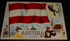 1956 Topps Trading Cards Flags of the World #24 AUSTRIA