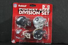 Riddell Pocket Pro Football Helmets NFL AFC WEST Set Vintage Rare Mint Original