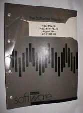 VINTAGE DEC DIGITAL SOFTWARE DISPATCH RSX-11M/S-RSX-11M-PLUS AUGUST 1983