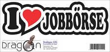 INDIGOS Aufkleber - I love Heart - Herz - JOBBÖRSE - 15 cm DE616