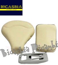 8256 - SELLA + PIASTRA E CUSCINO BEIGE PANNA VESPA 150 SPRINT VELOCE GL
